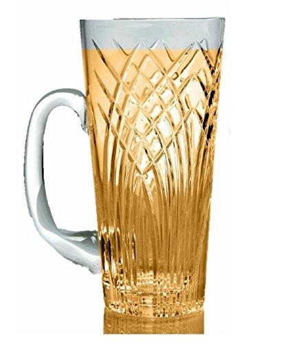 Gac Crystal Glass Beer Mug With Handle 16oz Glass Beer Stein Stunning Hand Cut Design Beer Glass Walmart Com Walmart Com