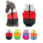Luxtrada Dog Jackets for Winter Windproof Waterproof Cozy Dog Coat for Cold Weather Warm Apparel Clothes Puppy Dog Vest for Small Medium Dogs (Red+Black,XS)