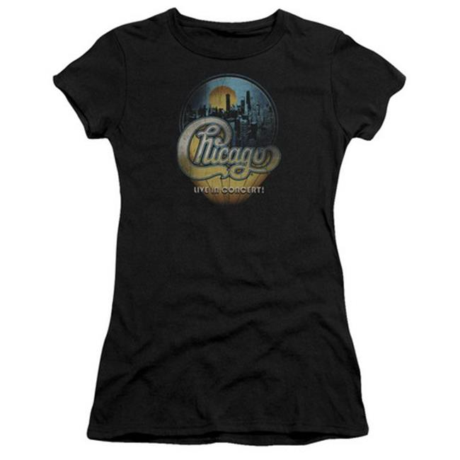 Chicago-Live - Short Sleeve Junior Sheer Tee - Black, 2X - image 1 of 1