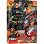 """Click N' Play Search And Rescue Firefighter 12"""" Inch Action Figure Play set With Accessories"""