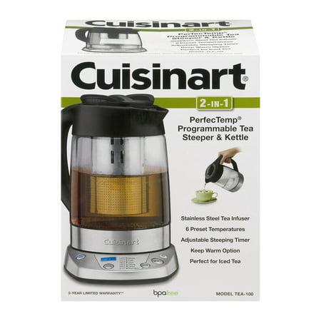 Cuisinart 2-in-1 Perfec Temp Programmable Tea Steeper & Kettle, 1.0 CT