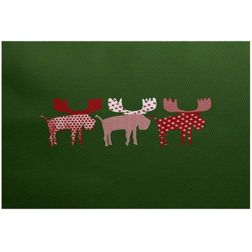 Walmart Moose Rug: Simply Daisy 4' X 6' Merry Moose Animal Print Indoor Rug
