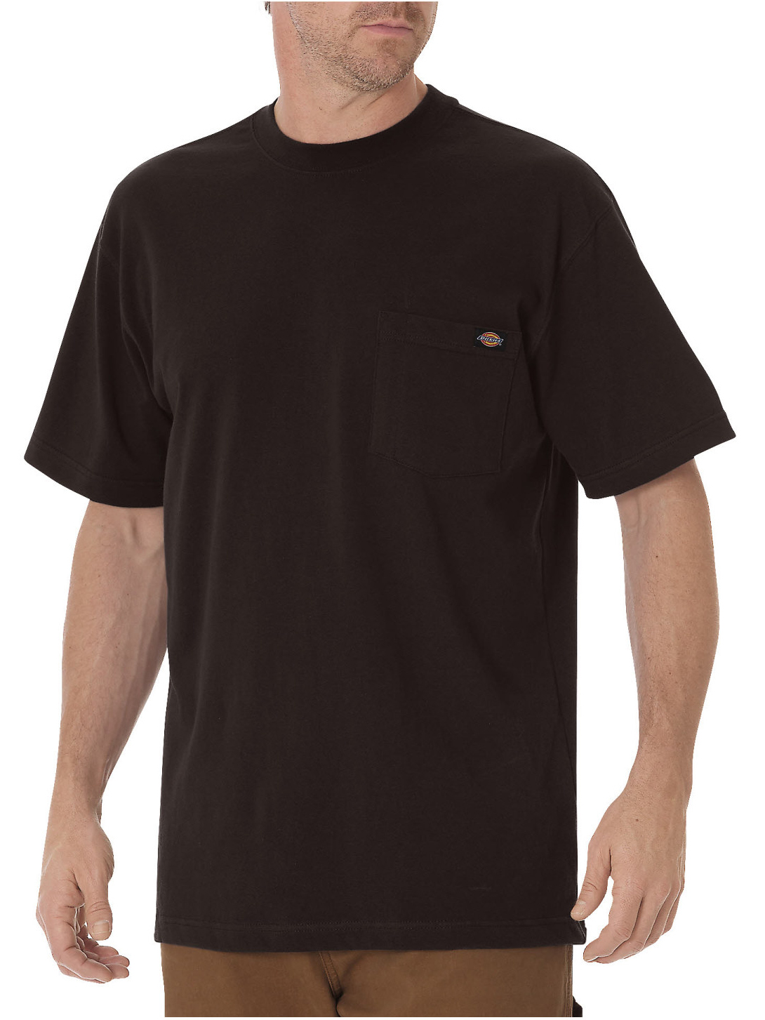 Big and Tall Men's Short Sleeve Heavyweight Crew Neck Tee