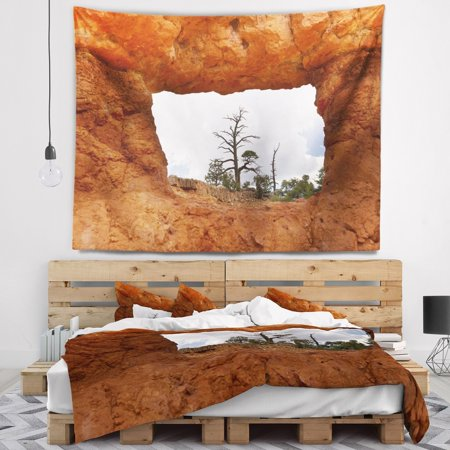 Design Art Designart Sky Through Red Canyon Window Contemporary Landscape Wall Tapestry