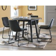 Signature Design by Ashley Centiar Gray/Black Round Dining Room Table