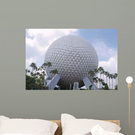 Spaceship Earth Wall Mural by Wallmonkeys Peel and Stick Graphic 36 in