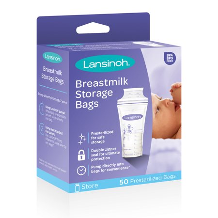 - Lansinoh Breast Milk Storage Bags, 50 Count