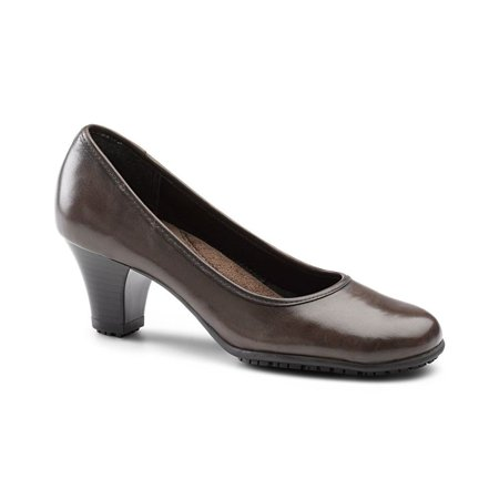 Aerosoles SureGrip Womens Arizona SG Brown Slip Resistant Dress Work Shoes