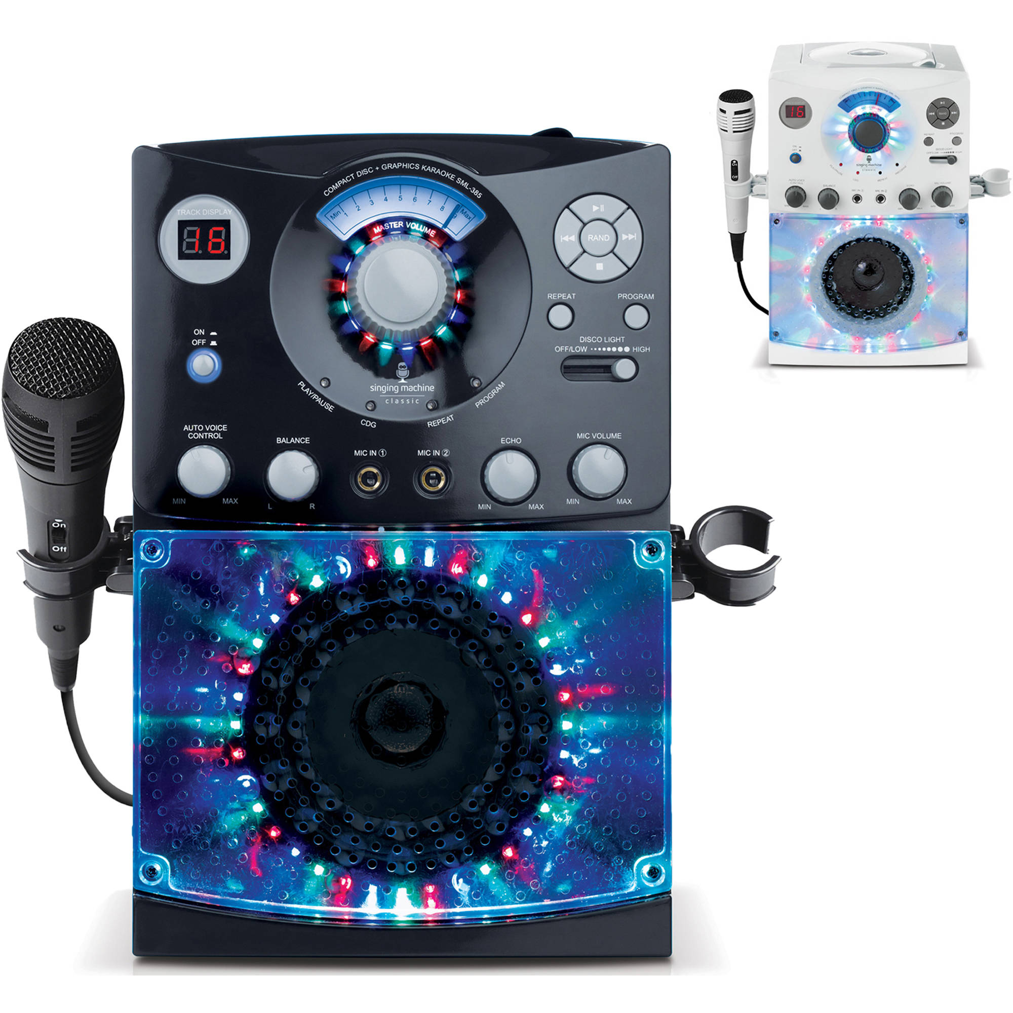 Singing Machine SML385 CDG Karaoke System with Disco Lights