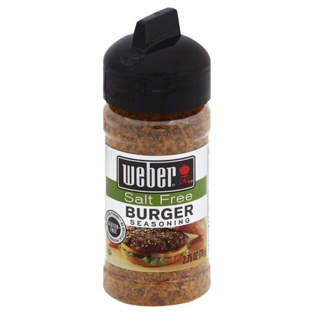 - (2 Pack) Weber Gluten Free Salt Free Seasoning, Burger, 2.5 Oz