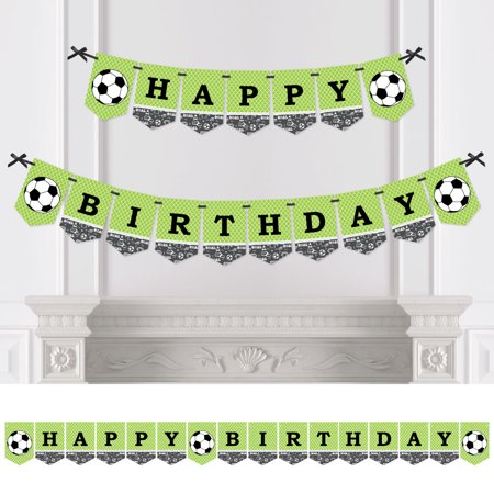 GOAAAL! - Soccer - Birthday Party Bunting Banner - Sports Party Decorations - Happy - Soccer Birthday Party