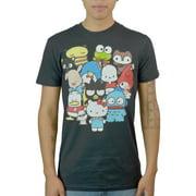 Hello Kitty Characters Men's Black T-shirt NEW Sizes S-XL