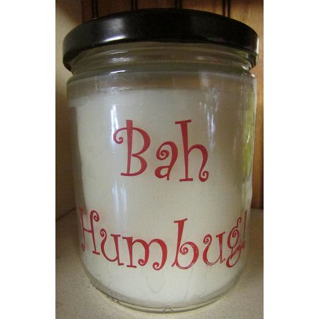 "Star Hollow Candle Company ""Bah Humbug"" Evergreen and Citrus Jar Candle"