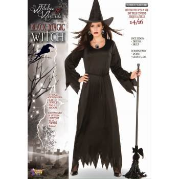 CO - BLACK MAGIC WITCH - STD - Black Cat Witch Halloween Costume