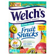Welch's® Island Fruits Fruit Snacks 22-0.9 oz. Pouches