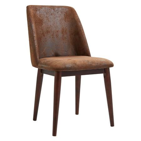 Versanora - Elegante Fabric Chair Aged Leather ()