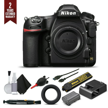 Nikon D850 Digital SLR Camera Body Only Starter Set With Extended Warranty (Intl Model)