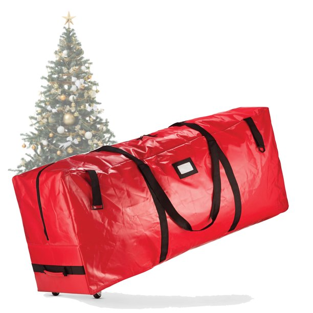 Heavy Duty Rolling Christmas Tree Storage Box Fits Up To