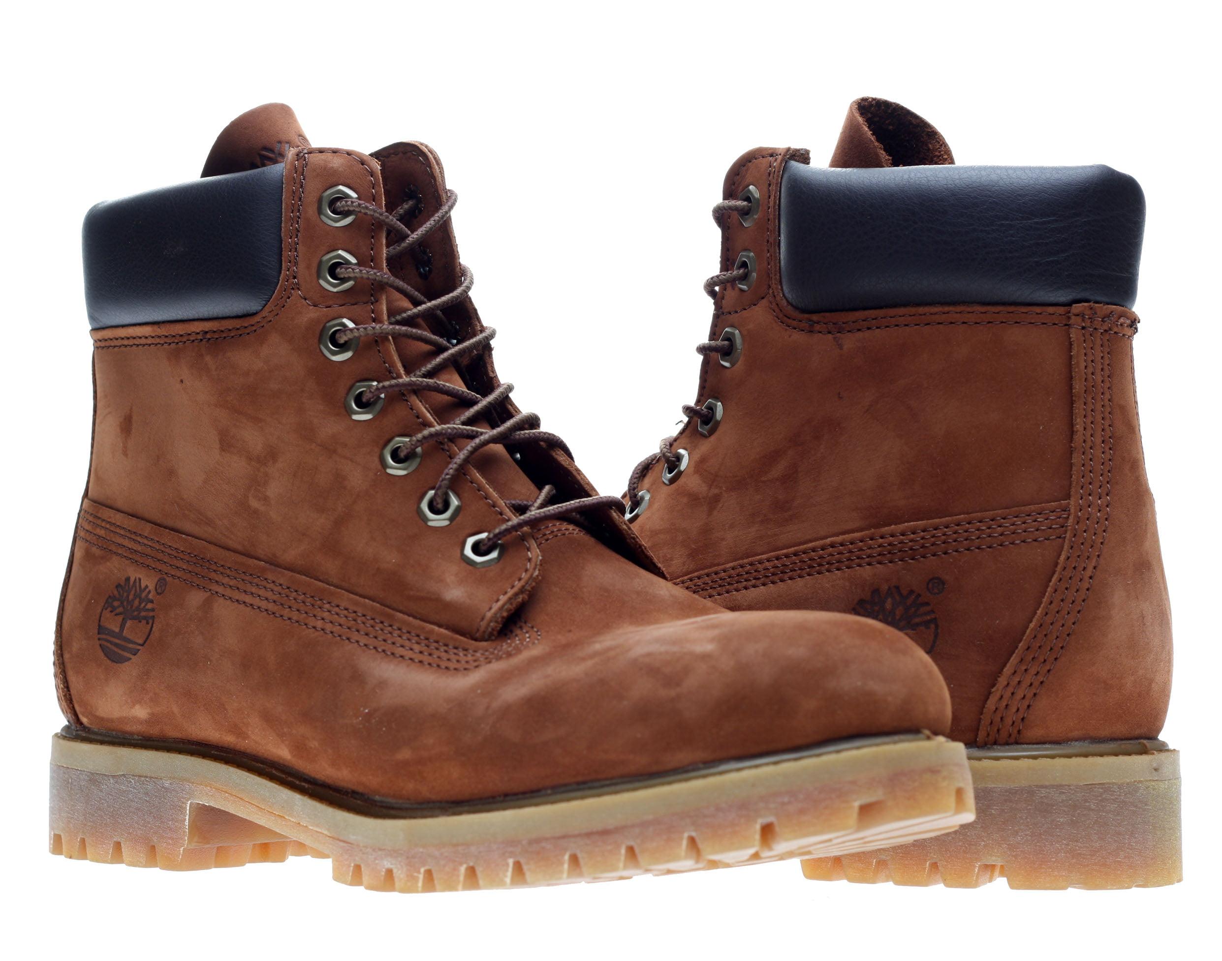 Timberland 6-Inch Premium Waterproof Cognac Brown Nubuck Men's Boots 6768R by
