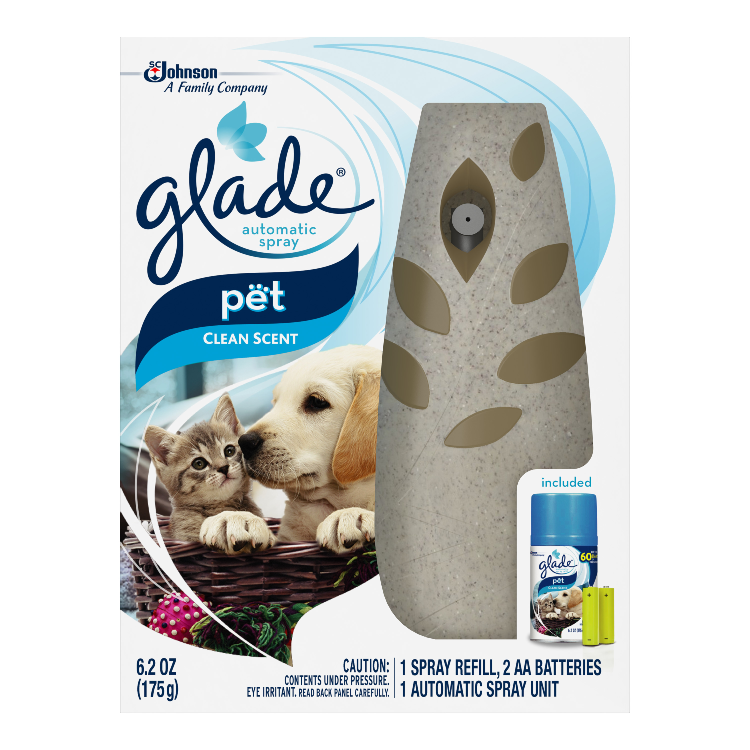 Glade Automatic Spray Air Freshener Starter Kit, Pet Clean Scent, 6.2 Ounces