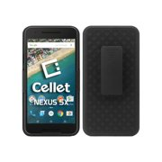 Cellet Shell/Holster/Kickstand Combo Case with Spring Belt Clip for Google Nexus 5X