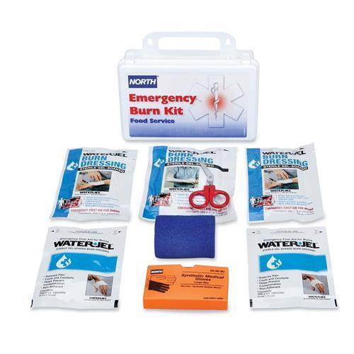 019728-0015L North Food Service Emergency Burn Kit - Metal Case