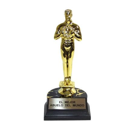 Father's Day El Mejor Abuelo Del Mundo Trophy Award-7 inches](Diy Trophy)