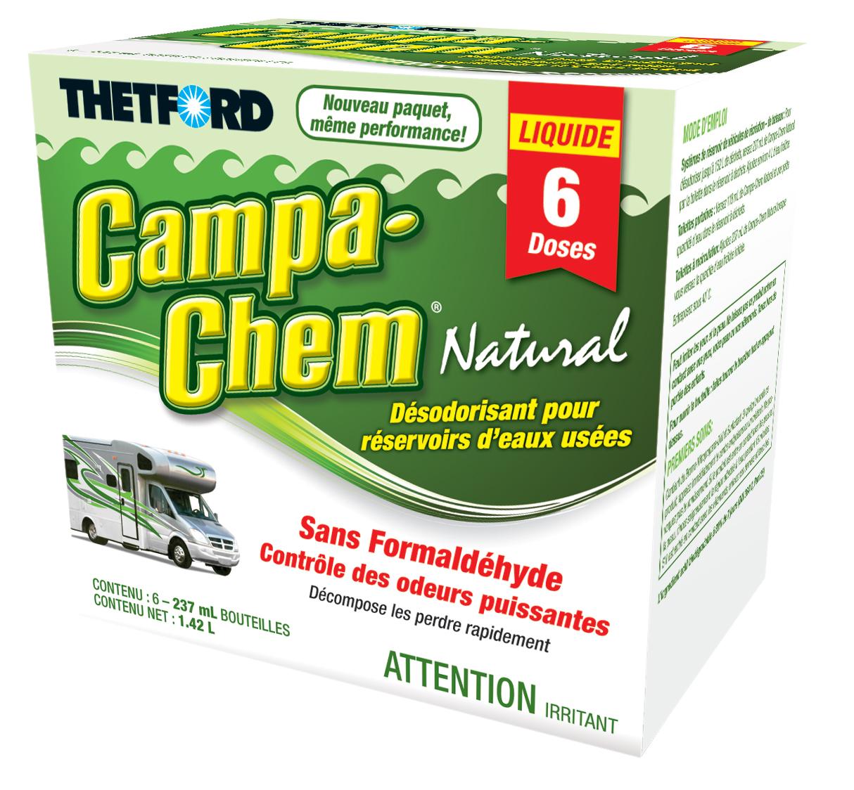 Campa-Chem RV Holding Tank Treatment - Deodorant / Waste Digester / Detergent - 6 x 8-oz pack - Bilingual - Thetford 24591