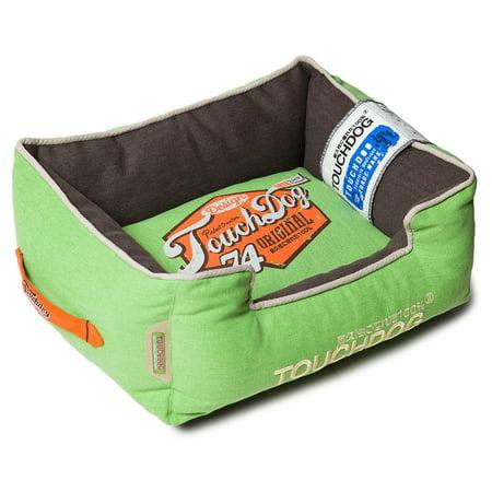 Pet Life Touchdog Original Sporty Vintage Throwback Reversible Plush Rectangular Dog Bed