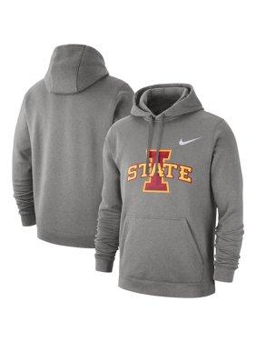 Iowa State Cyclones Nike Logo Club Fleece Pullover Hoodie - Heathered Gray