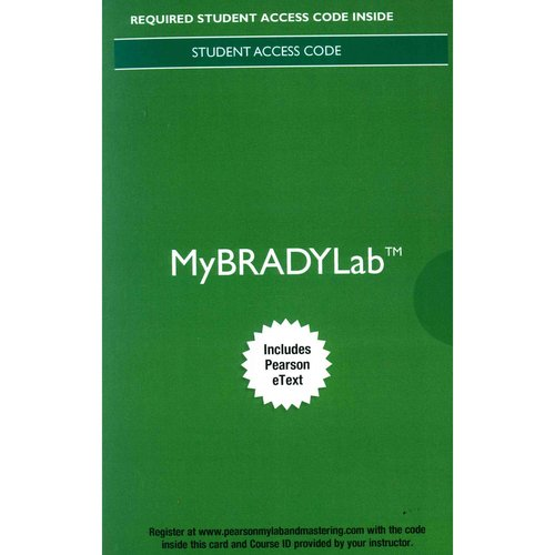 Paramedic Care My Brady Lab Access Code: Principles & Practice: Volumes 1-5: Includes Pearson Etext