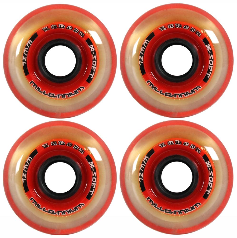 LABEDA WHEELS Inline Roller Hockey MILLENNIUM 72mm   76A x4 Red Black by Labeda
