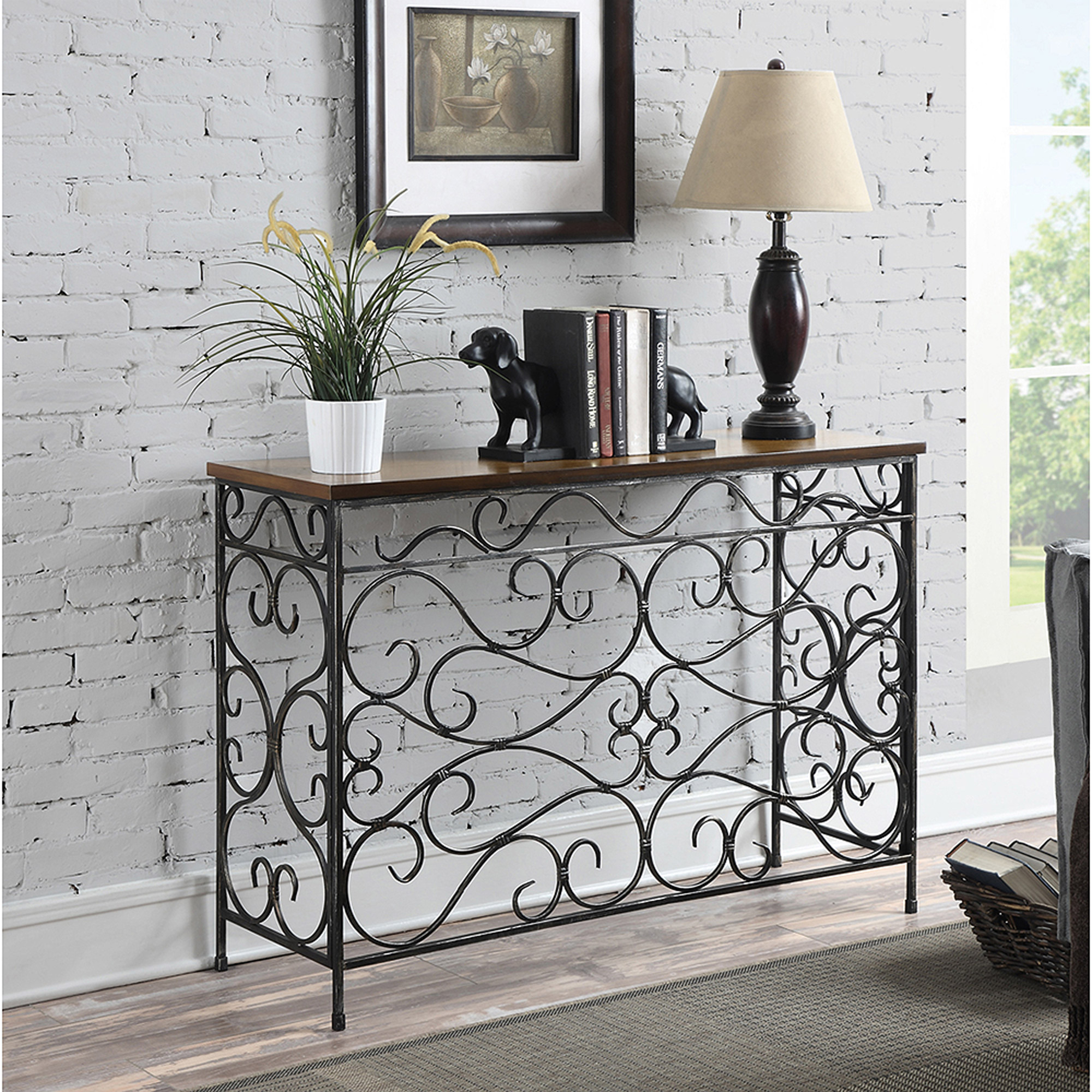 Convenience Concepts Wyoming Metal and Wood Console