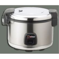 Commercial Electric Rice Cooker & Warmer with Hinged Cover - 30 Cups