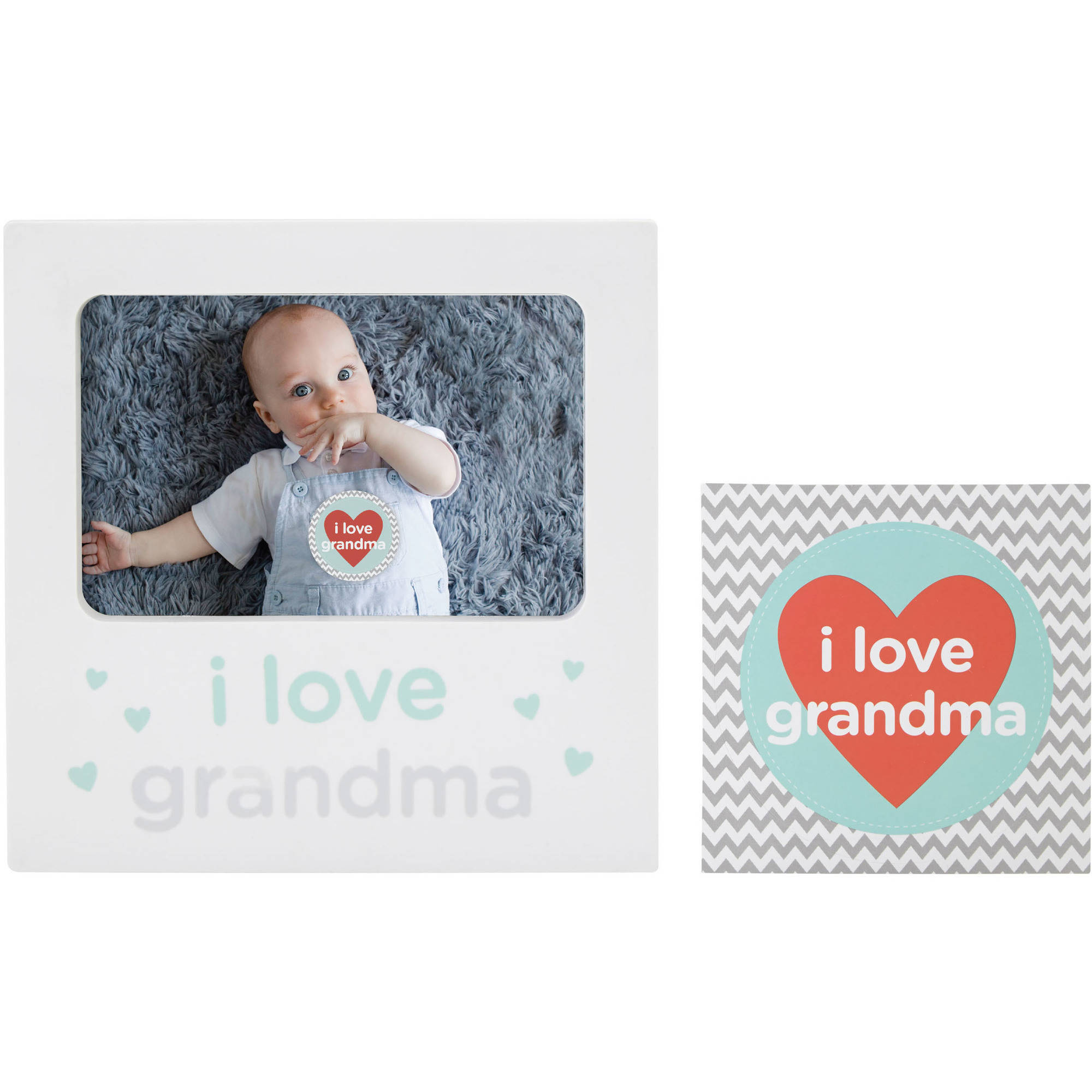 Tiny Ideas I Love Grandma Belly Sticker and Keepsake Frame Set