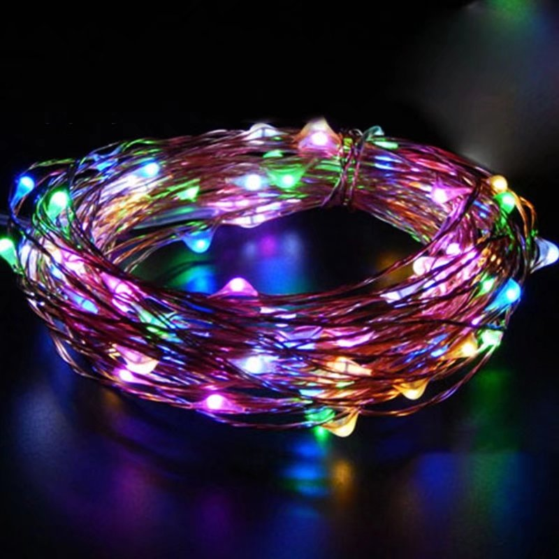 VicTsing 6.5FT/2M LED Copper Wire String Lights 20 Waterproof LED Lights Battery Operated for Party Wedding Centerpiece Christmas Table Decoration (Colorful)