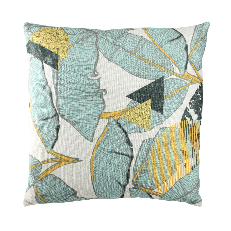 "17"" Green Tropical Banana Leaf Decorative Linen Throw Pillow - image 2 of 2"