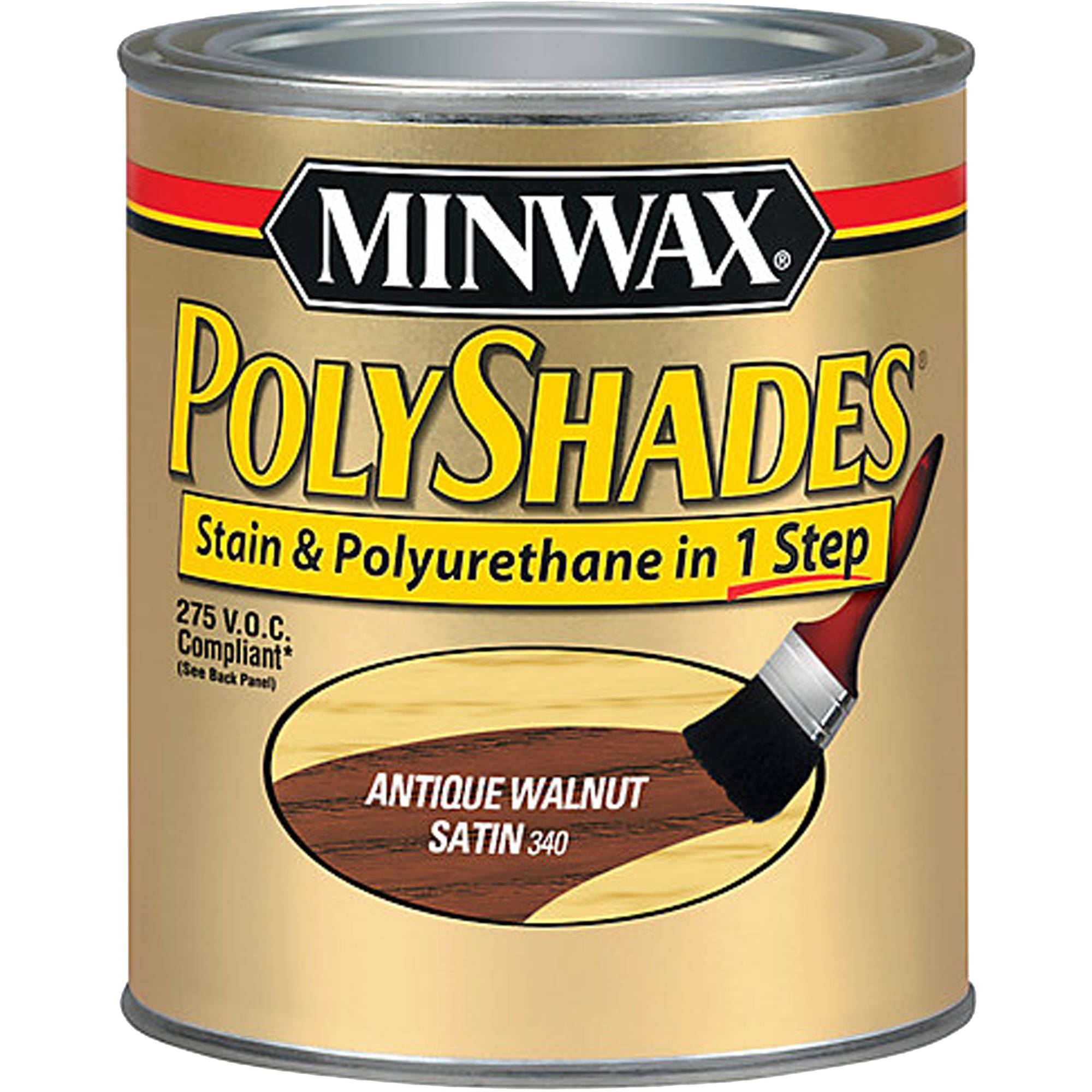 Minwax 275 Voc Polyshades Satin, 1/2 pt, Antique Walnut