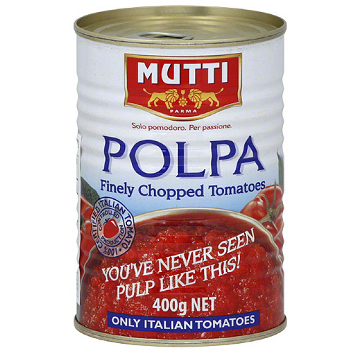 Mutti Polpa Finely Chopped Tomatoes, 14 oz, (Pack of 12)