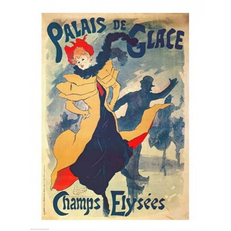 Posterazzi BALXCF274347 Poster Advertising The Palais De Glace on The Champs Elysees Poster Print by Jules Cheret - 18 x 24 in. - image 1 de 1
