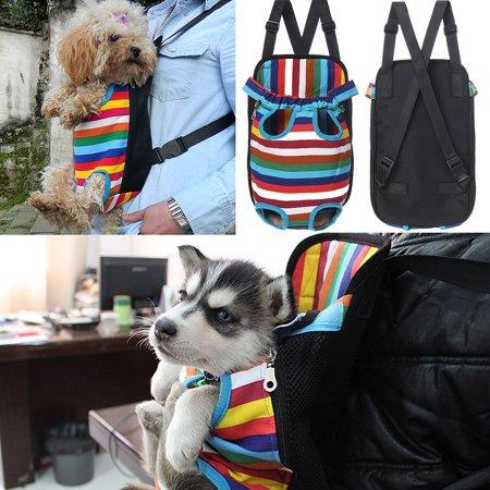 S-XL Size Fashion Pet Puppy Dog Cat Pig Net Canvas Backpack pigcanvasbackpack Front Tote Carrier Travel Shoulder Bag - image 7 de 9