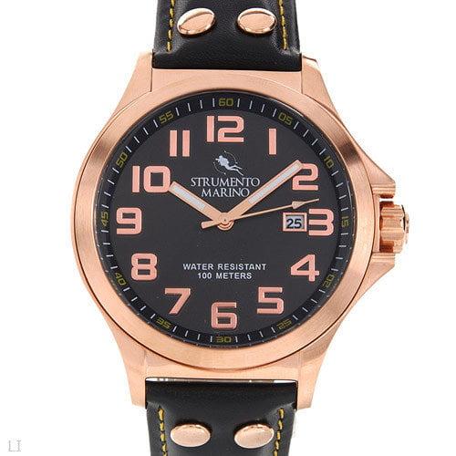 Strumento Marino Harbour SM046LRG/BK Men's Stainless Steel Watch