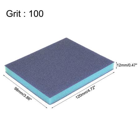 """Sanding Sponge, Coarse Grit 100 Grit Sanding Block Pad, 4.72"""" x 3.86"""" x 0.47"""" Size 12pcs - image 1 de 3"""