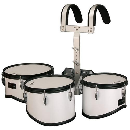 Groove Percussion MTR8012W Marching Trio Tom Tom Set with Vest