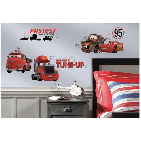 Cars Friends to the Finish Peel and Stick Wall Decals
