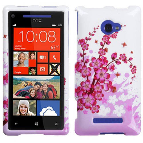 HTC 6990LVW Windows 8X MyBat Protector Case, Spring Flowers