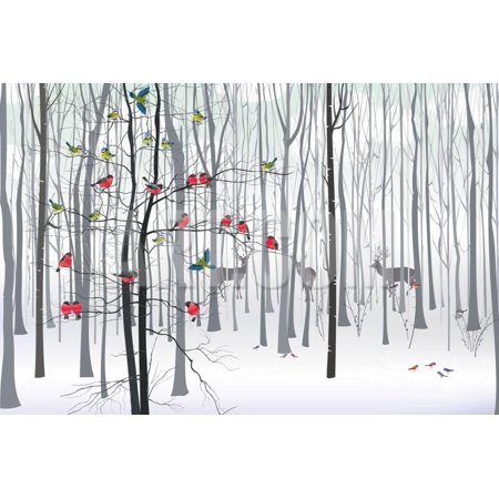 Christmas Tree in the Forest Print Wall Art By fresher](Christmas Tree Art)