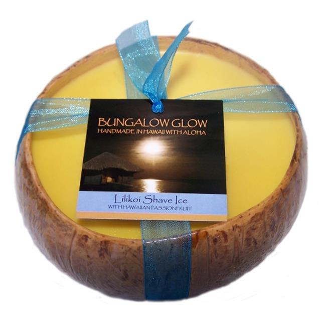 Bubble Shack Hawaii 492773500953 Lilikoi Shave Ice Coconut Candles - Pack of 2