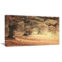 Design Art Dreamy Imagery of Autumn Photographic Print on Wrapped Canvas