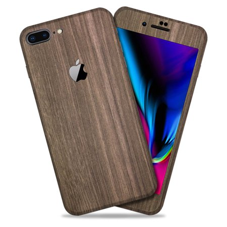 online store 4ba15 0a347 Brown Wood Texture Protective Skin Decal for Apple iPhone 8 Plus Vinyl Wrap  Cover 2 Pack [Back 1-PK & 1-PK] by GolemGuard